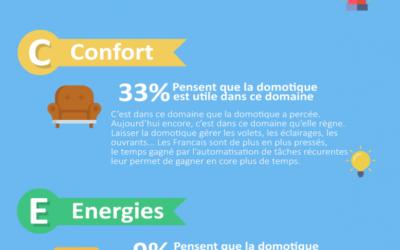 #Infographie, La domotique vue par les Francais, pour quelle utilité et dans quel domaine?